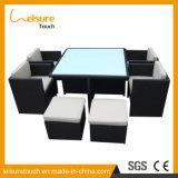Silla de mimbre al aire libre Patio muebles de la sala de dibujo a mano en telar y la tabla
