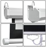 """100 Zoll-Wand-Montierungs-Büro-Projektor-weißer manueller Projektions-Mattbildschirm für M100 """" 4: 3"""