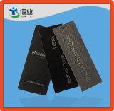 Peça de vestuário de luxo personalizado pendurar a etiqueta com o logotipo do papel