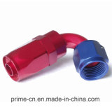 An6 montaggi di estremità del tubo flessibile della parte girevole di flusso completo di 120 gradi