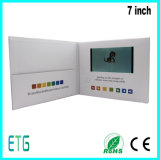 유의하기를 위한 선전용 7 인치 IPS/HD LCD 영상 브로셔 카드