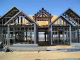 Hermoso edificio de estructura de acero de la luz