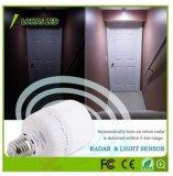 20W Bombilla de luz del sensor de movimiento E26 T80 el radar del sensor LED Lámpara de noche para dormitorios patio garaje de la escalera portada