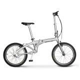 Gomma solida piegante elettrica della bicicletta dell'azionamento di asta cilindrica del tubo d'acciaio da 20 pollici della bici pieghevole senza giunte 20 di Cardanic '' 3 anni di Guaratee