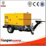 На заводе Kanpor 330Ква 150Ква 120квт легко перемещать трейлер Silent генератора