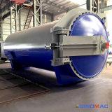 2800X8000mmのセリウムの蒸気暖房が付いている公認のゴム製加硫オートクレーブ