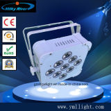 equipamento sem fio liso da luz RGBWA 4in1 DMX512 Batterty DJ da PARIDADE do diodo emissor de luz de 9PCS X de 10W