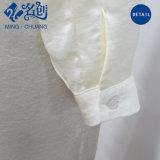 Weiße Newstyle Tasten-lange Hülsen-Form-langes dünnes Frauen-Kleid