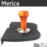 Compressore del caffè dell'acciaio inossidabile con la maniglia arancione