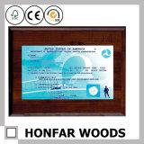 Frame do original do certificado do frame de retrato da madeira contínua para o escritório