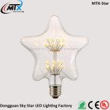 Bulbo creativo del fuego artificial del corazón LED de la iluminación E26 E27 del nuevo diseño