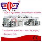 Máquina seca de la laminación de la película de alta velocidad del PVC de la serie de Qdf-a
