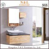 Шкаф тщеты ванной комнаты N&L самомоднейший деревянный