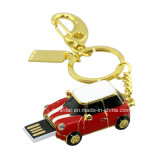 Clé de mémoire USB en cristal de forme de véhicule de Thumbdrive de lecteur flash USB de bijou