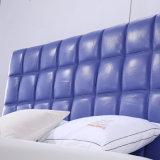 형식 2인용 침대 디자인 현대 침실 가구 가죽 침대 (G7010)