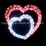 Decorações do Natal do diodo emissor de luz do projeto do coração da decoração da iluminação