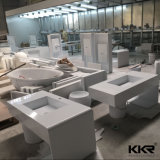 Dessus en pierre artificiel préfabriqué de vanité de salle de bains de partie supérieure du comptoir de matériau de construction (170926)