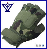 Ventile Skidproof Half-Finger Guantes tácticos militares Ejército Guantes (SYSG-076)