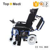 Sillón de ruedas eléctrico plegable de descanso del equipo de la terapia de la rehabilitación para los minusválidos
