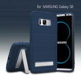Nuova cassa del telefono di Kickstand del grano di trafilatura di disegno per la galassia S8 di Samsung