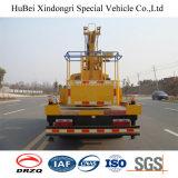 14m Dongfeng 접히는 팔 높은 작업 플래트홈 트럭 Euro5