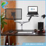 Jeo 파악 하나 컴퓨터 모니터와 1 노트북 Ys-Ga24u-D 모니터 라이저 모니터 마운트 팔