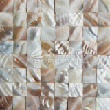 Azulejo de mosaico nacarado del shell de agua dulce iridiscente del río