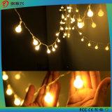 옥외 고품질 및 싸게 백색 또는 파랗거나 온난한 백색 LED 크리스마스 전구 끈 빛