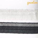 Testi fissi in bianco e nero del merletto del poliestere