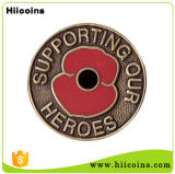 China Gift Factory Hiicoins Custom Poppy Coin Poppy Air Freshener