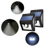 Nuovo indicatore luminoso solare del giardino della lampada da parete del sensore di movimento di 8LED PIR LED
