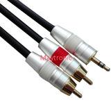 Kabel 3.5mm tot 2 RCA van de premie