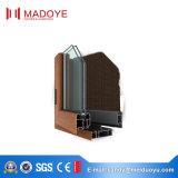 Guichet en aluminium de tissu pour rideaux de la plus défunte de modèle de Madoye interruption thermique enduite de poudre
