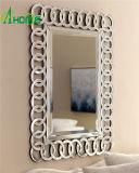 Espelhos baratos da parede da forma do espelho do retângulo da venda por atacado do espelho de Frameless