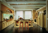 Module de cuisine à la maison en bois solide de meubles, meubles de cuisine
