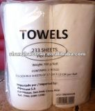 Toalla de papel de la cocina blanca respetuosa del medio ambiente sana