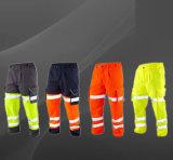 Aufbau-Sicherheits-Schellfisch-orange im Freien hohe Sicht-Hosen