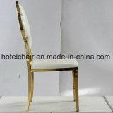 食堂のための高貴なローズの金の花デザインステンレス鋼の椅子