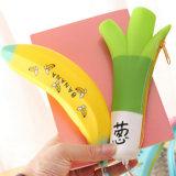 Fabrication Le prix de l'ail en forme de banane portable cas crayon en silicone/boîte