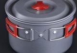 Großhandelsim Freien kochendes Potenziometer-Aluminiumset für Gebrauch 4-5person