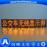Visualización de LED amarilla larga de la tapa del taxi del color de la durabilidad P10 SMD3528