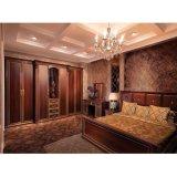 De Donkere Houten Korrel van de luxe met de Gouden Garderobe van het Platina