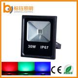 Indicatore luminoso di inondazione esterno impermeabile della PANNOCCHIA LED della sosta 30W di Ultrahin di colore di AC85-265V RGB