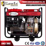 luftgekühlter Dieselenergien-Generator des bewegliches elektrisches Anfangs5kva/5kw mit Rädern