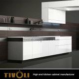 Het kleine Witte Meubilair van de Keuken met de Lange Opslag van de Voorraadkast (AP028)