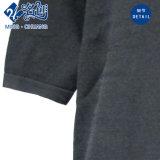 Negro Collar de manga corta vestido de ocio