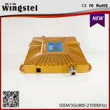 Двойной усилитель сигнала полосы 900/2100MHz 2g 3G 4G передвижной с антенной