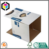 Caixa de empacotamento de papel dobro do cartão ondulado da parede
