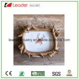 Покрашенные рукой рамки фотоего Antlers смолаы для домашнего украшения