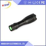 Lanterna elétrica recarregável do diodo emissor de luz do verde da escala longa do USB 1000m